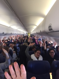 70% or more on filled plane from Midway were going to the March